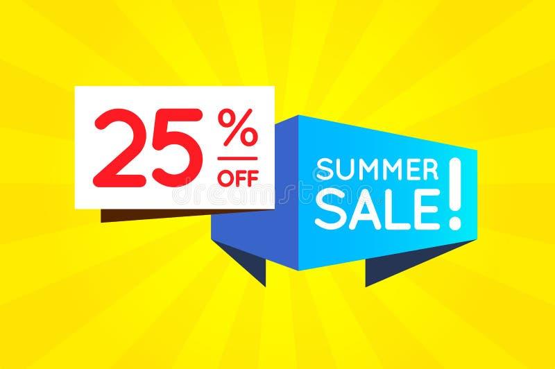 Cartaz da bandeira do sinal da venda do verão pronto para a Web e a cópia Vetor ilustração stock