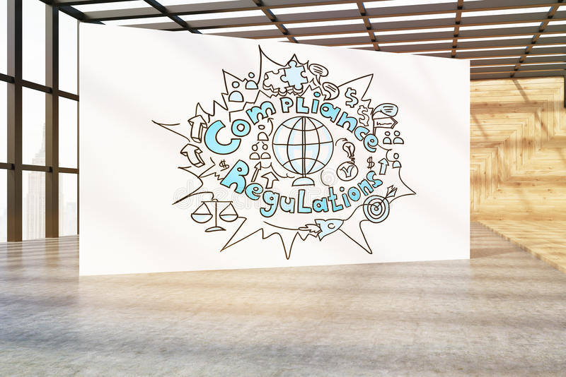 Cartaz da conformidade ilustração stock
