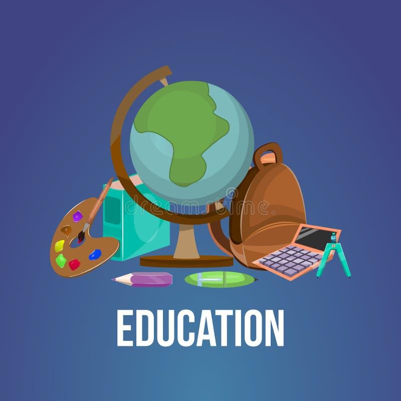 Cartaz da educação dos desenhos animados ilustração royalty free