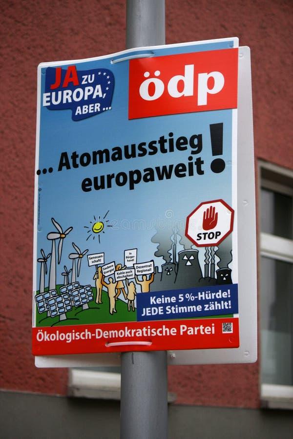 Cartaz da eleição fotografia de stock