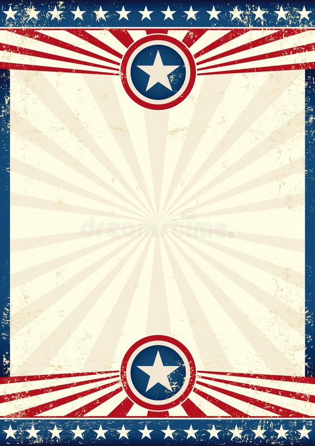 Cartaz da estrela do grunge dos EUA fotos de stock royalty free