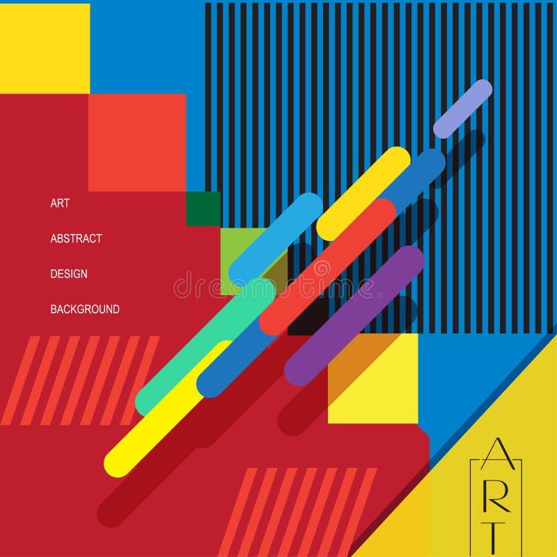 Cartaz da exposição de arte ilustração stock