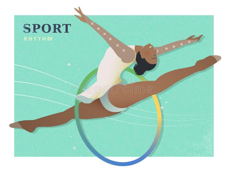 Cartaz da ginástica rítmica ilustração stock