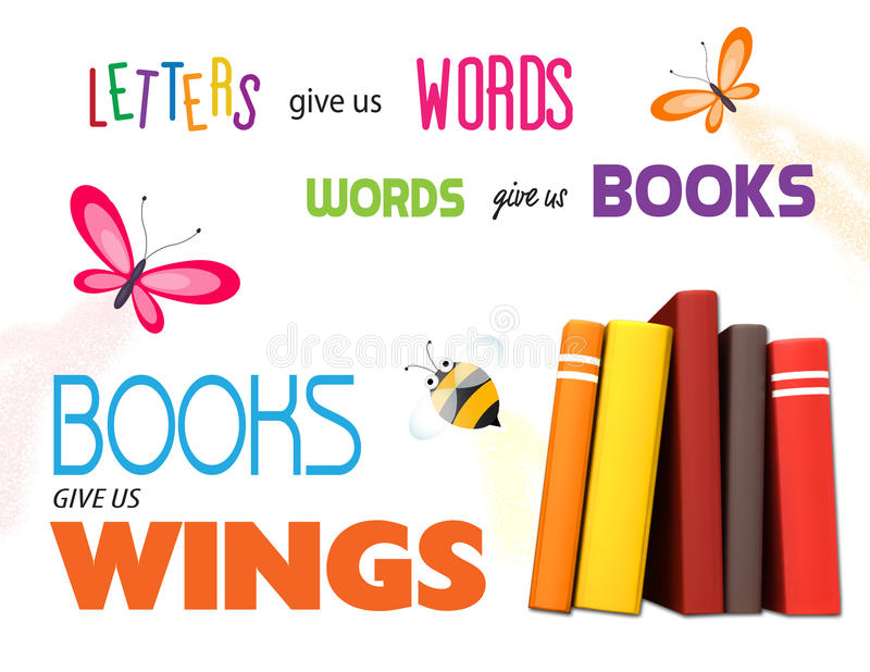 Cartaz da leitura da biblioteca ilustração stock