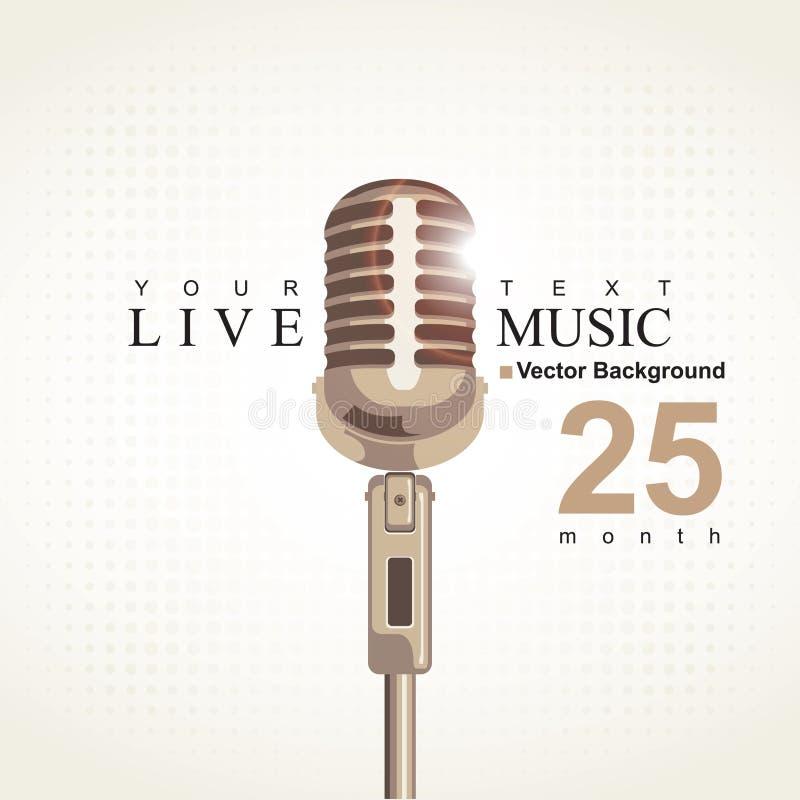 Cartaz da música ilustração royalty free