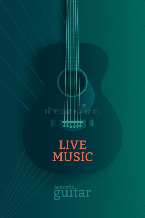 Cartaz da música ao vivo ilustração do vetor
