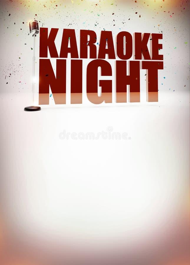 Cartaz da música do karaoke ilustração royalty free