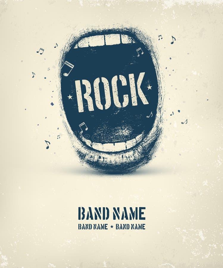 cartaz da música rock ilustração stock