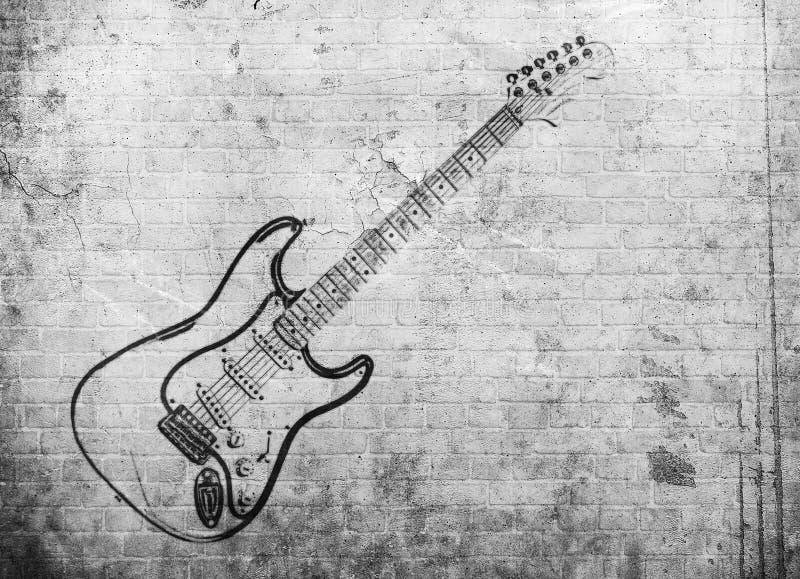 Cartaz da música rock do Grunge ilustração do vetor