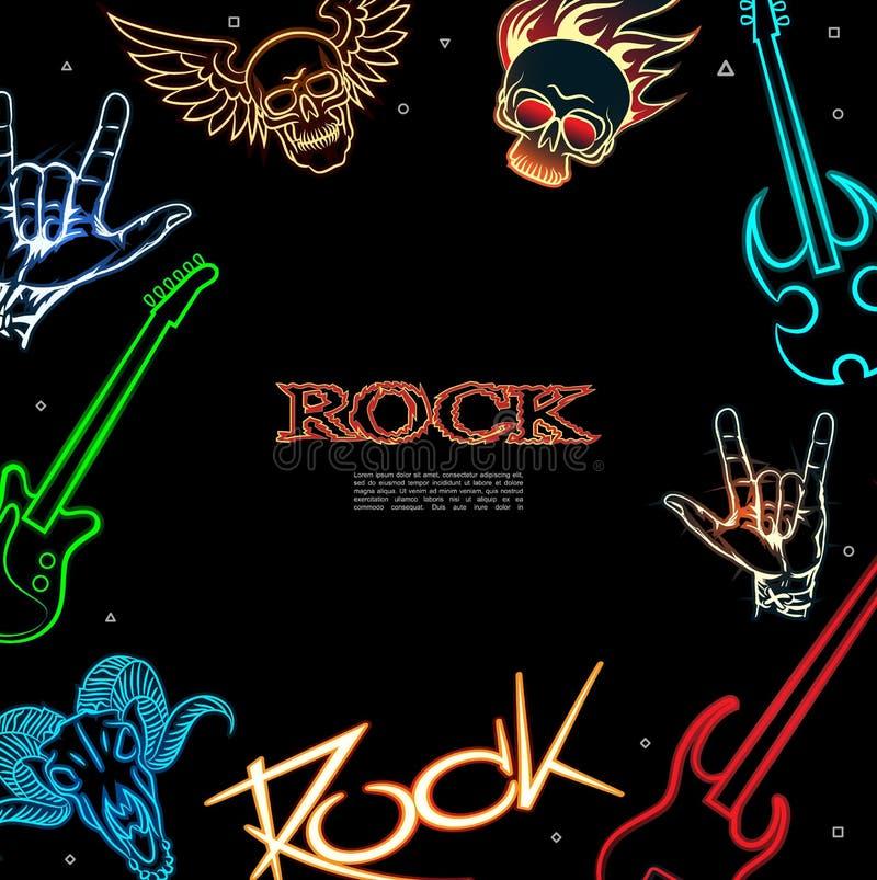 cartaz da m?sica rock ilustração stock