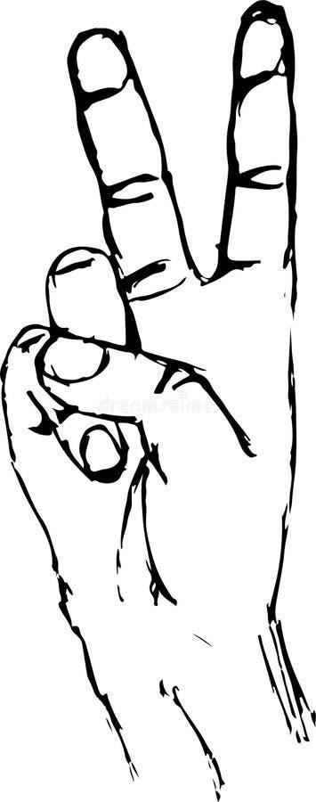 Cartaz da motivação da rotulação da mão do conceito da vitória ilustração do vetor