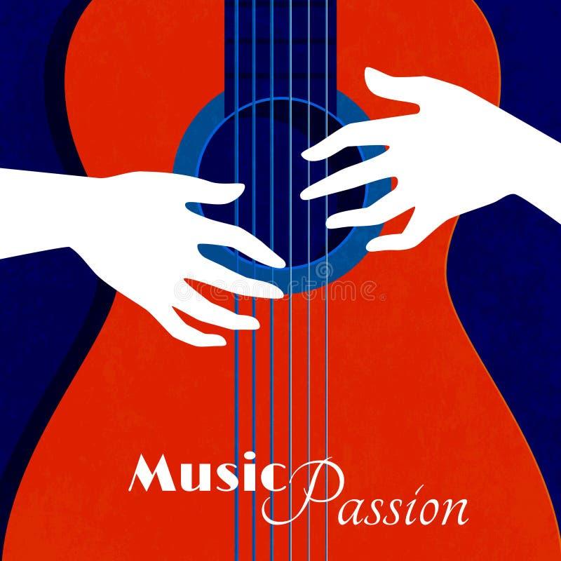 Cartaz da paixão da música ilustração stock