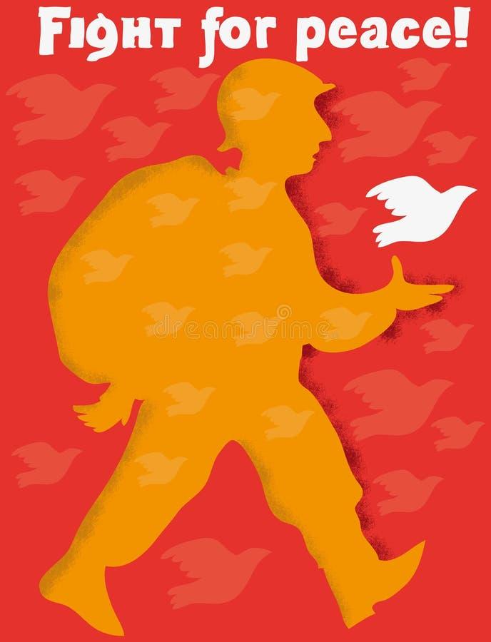 Cartaz da paz ilustração stock