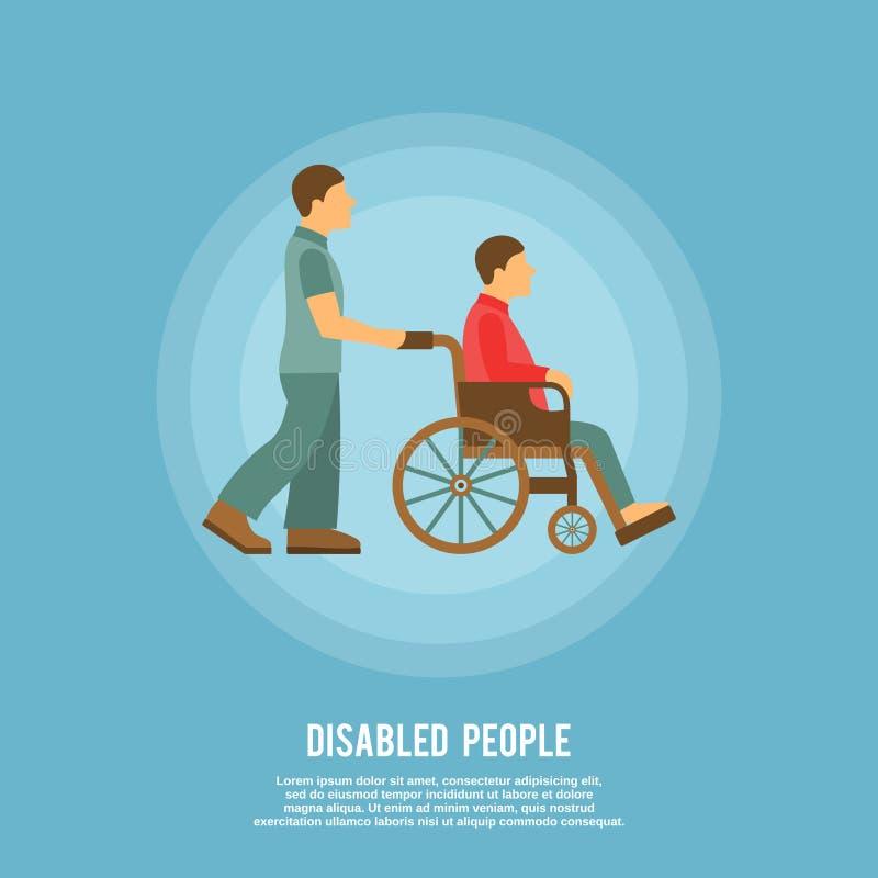 Cartaz da pessoa deficiente ilustração stock
