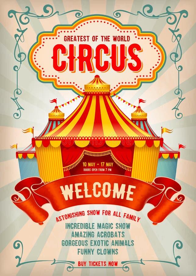 Cartaz da propaganda do circo ilustração stock