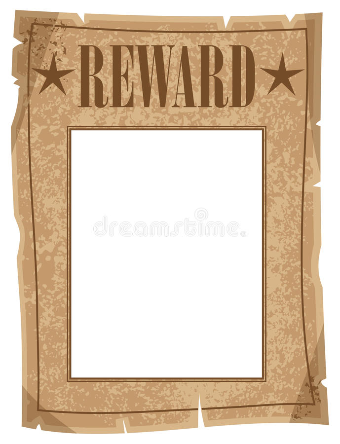 Cartaz da recompensa ilustração do vetor