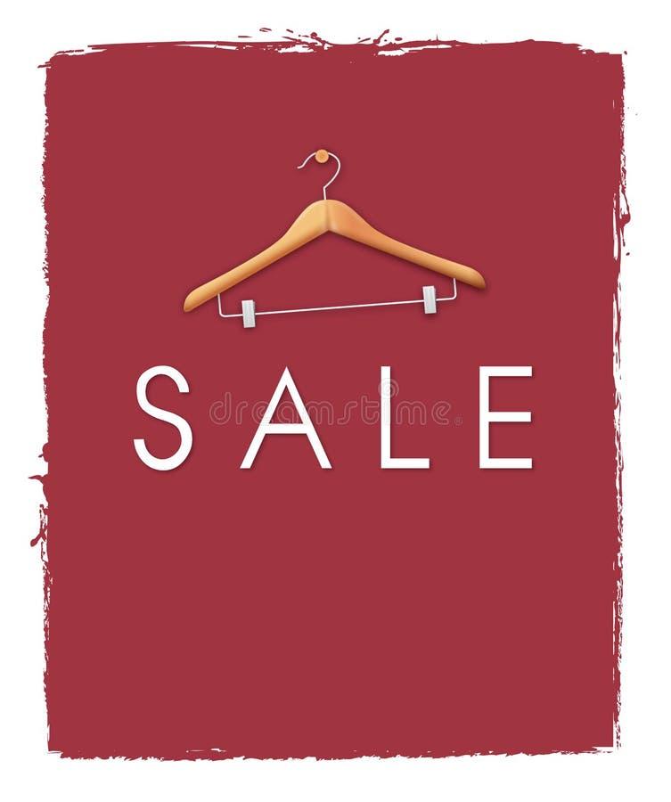 Cartaz da venda ilustração royalty free