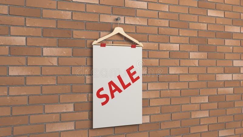 Cartaz da venda branca no gancho ilustração royalty free