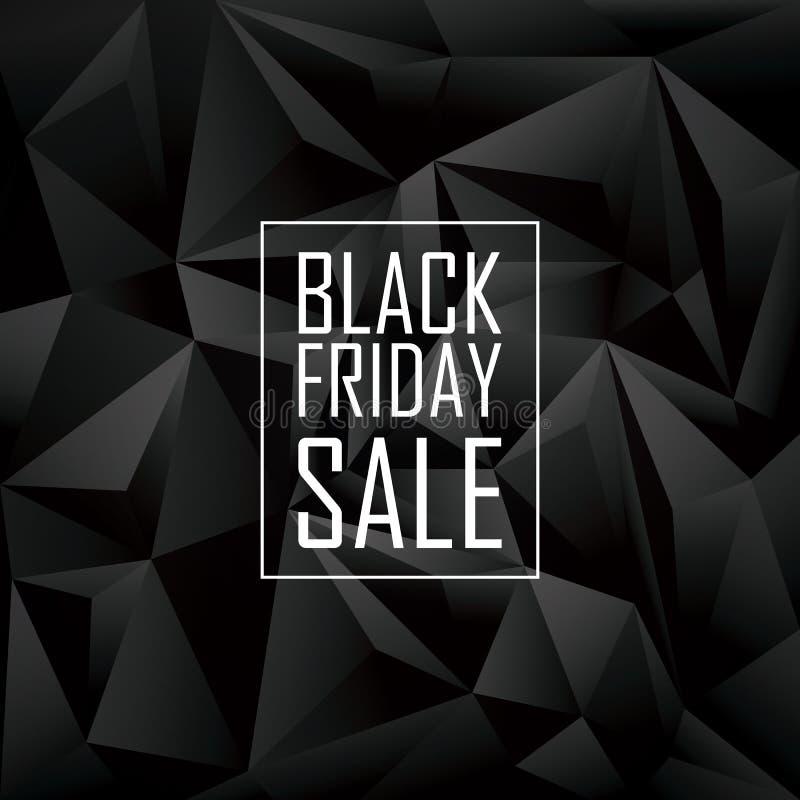 Cartaz da venda de Black Friday Baixo geométrico poligonal ilustração royalty free