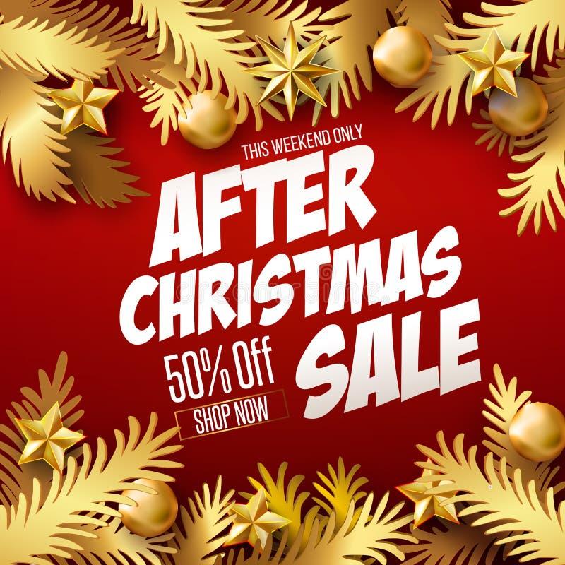 Cartaz da venda do Natal ilustração royalty free