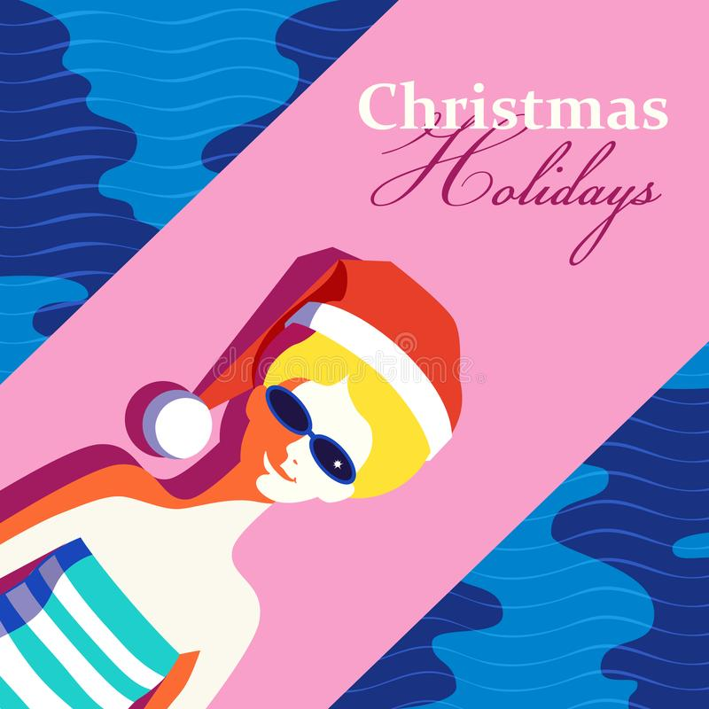Cartaz das férias do Natal ilustração stock