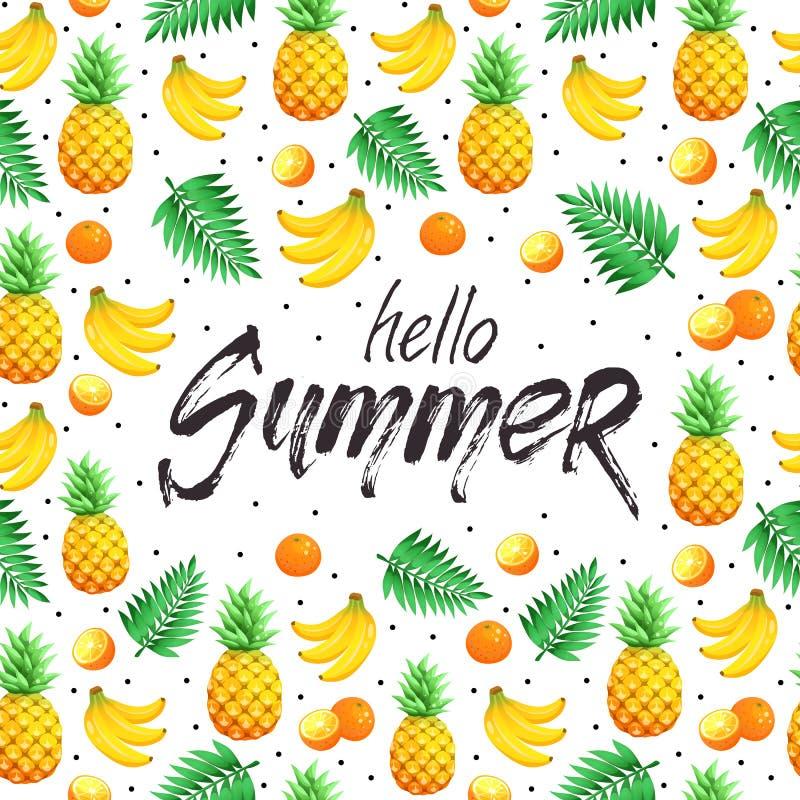 Cartaz das horas de verão ilustração royalty free