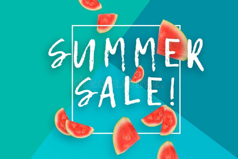 Cartaz das vendas do verão ilustração do vetor