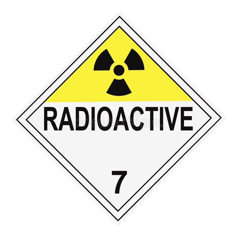 Cartaz de advertência radioativo ilustração royalty free