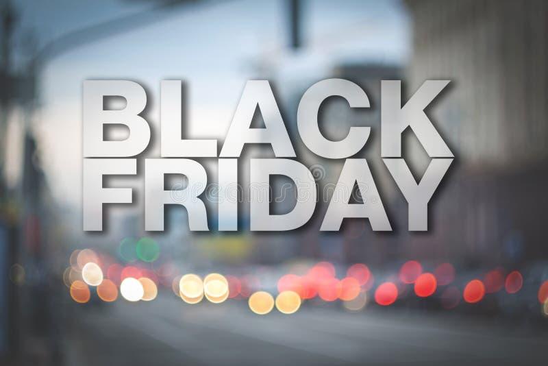 Cartaz de Black Friday imagem de stock