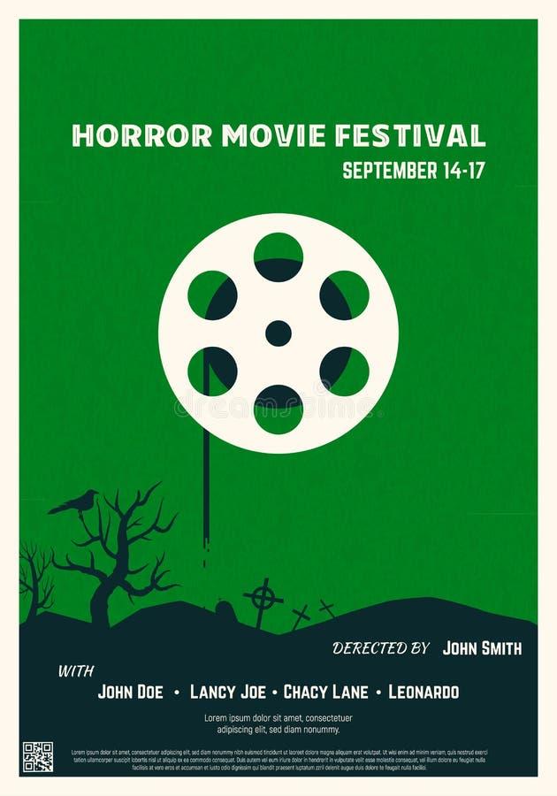 Cartaz de filme de terror ilustração do vetor