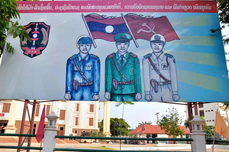 Cartaz de Laos imagem de stock