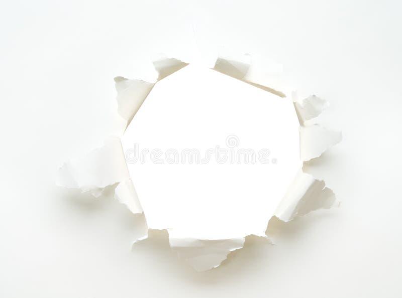 Cartaz de papel vazio branco do furo fotos de stock royalty free