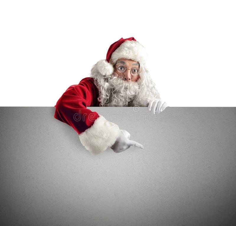 Cartaz de Santa Claus fotografia de stock