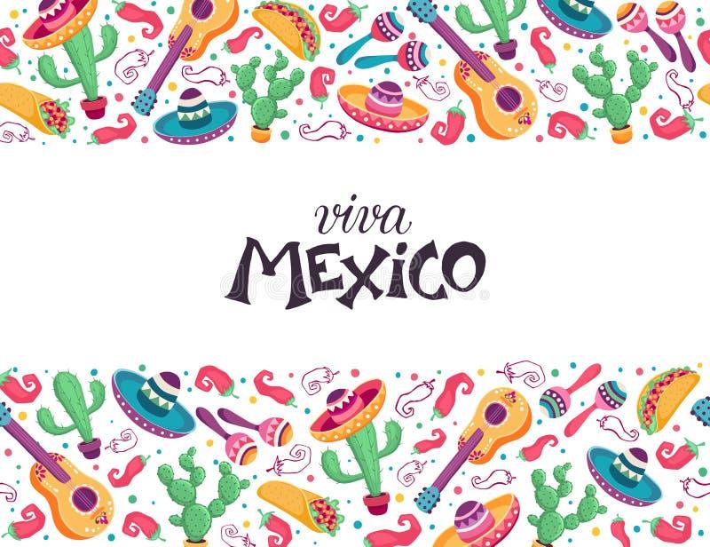 Cartaz de Viva M?xico ilustração stock