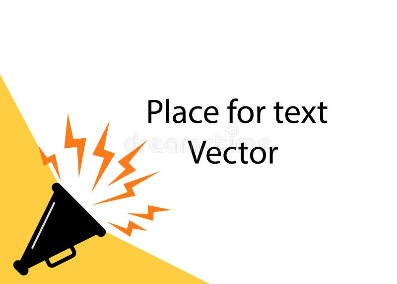 Cartaz do altifalante para anunciar anúncios, com espaço para o texto O conceito de atrair a atenção, notícia Ilustração do vetor ilustração do vetor