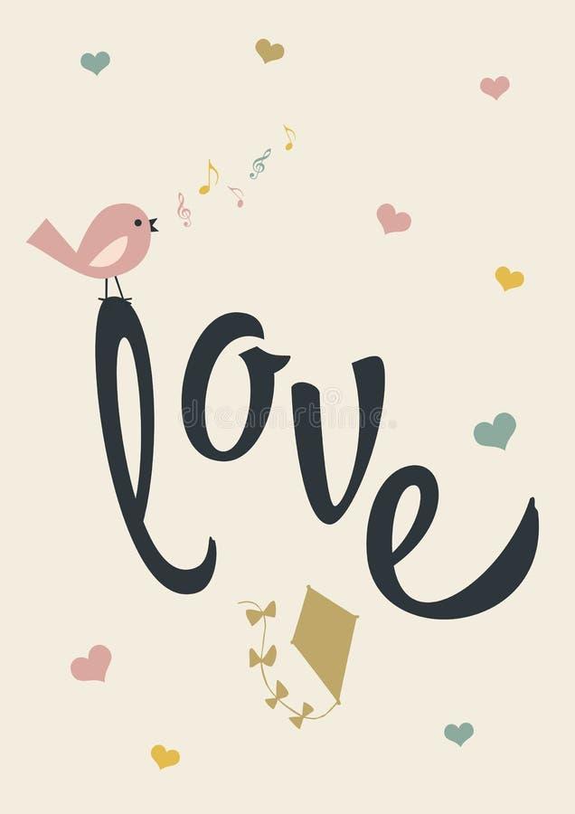 Cartaz do amor ilustração stock