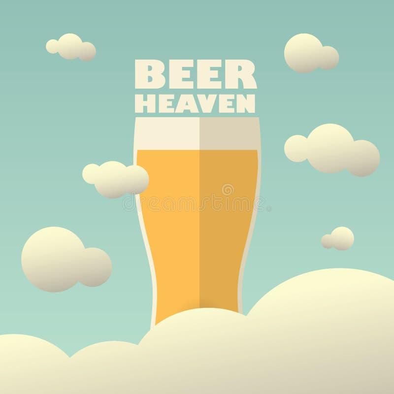 Cartaz do céu da cerveja com grande pinta no fundo ilustração do vetor