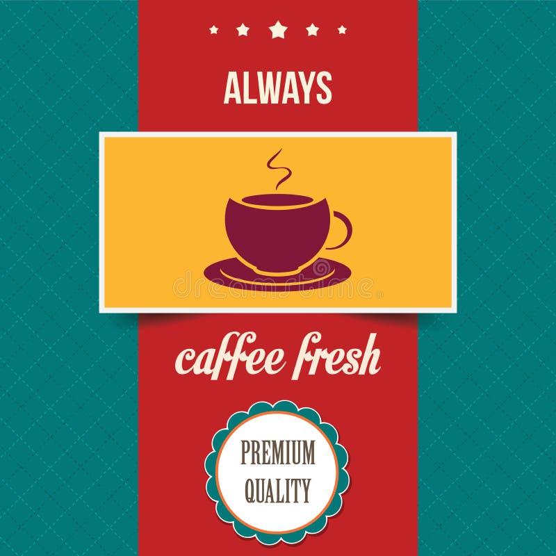 Cartaz do café do vintage ilustração royalty free
