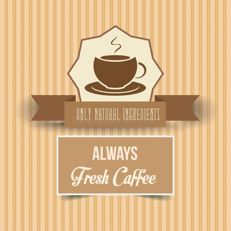 Cartaz do café do vintage ilustração stock