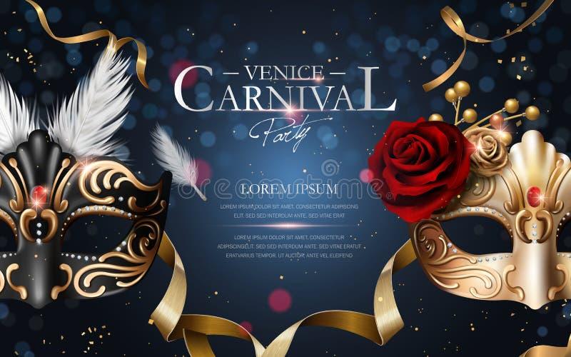 Cartaz do carnaval de Veneza ilustração royalty free