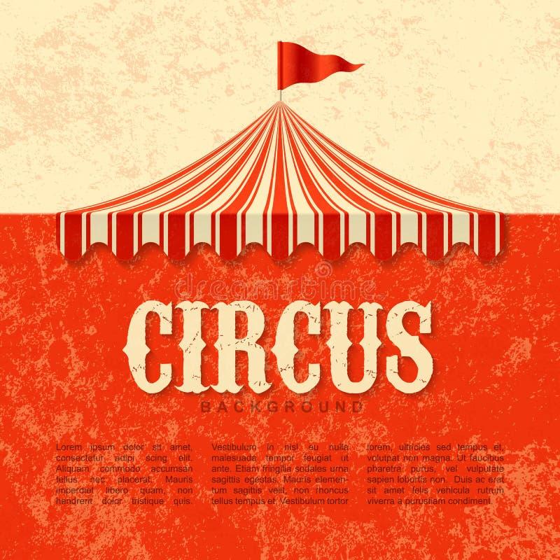 Cartaz do circo ilustração royalty free