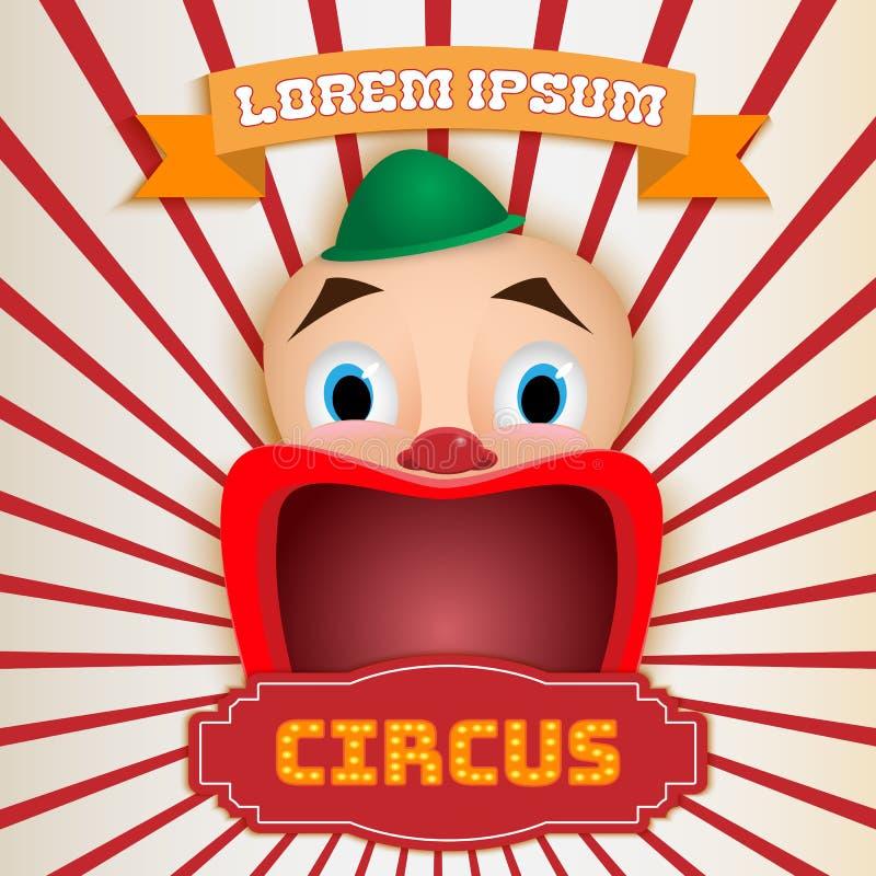 Cartaz do circo, mostra mágica ilustração royalty free