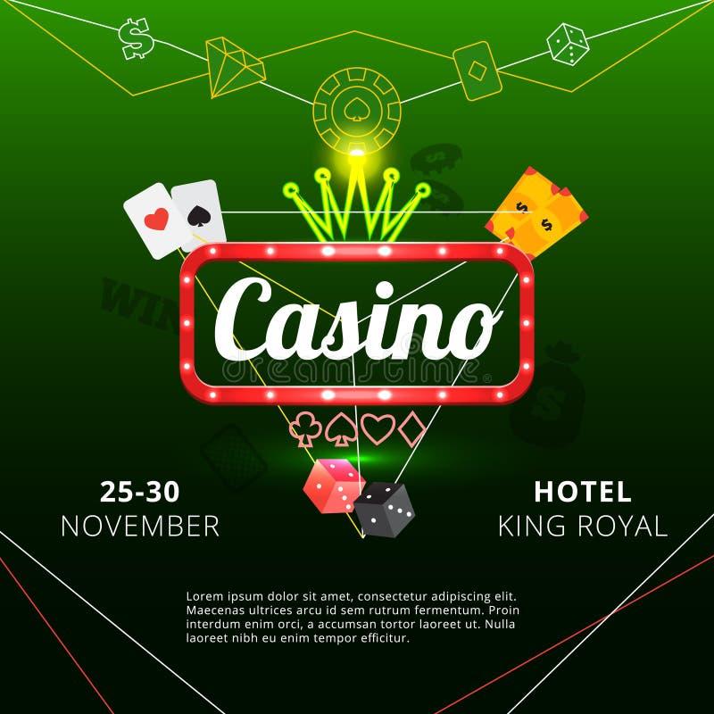 Cartaz do convite do casino ilustração do vetor