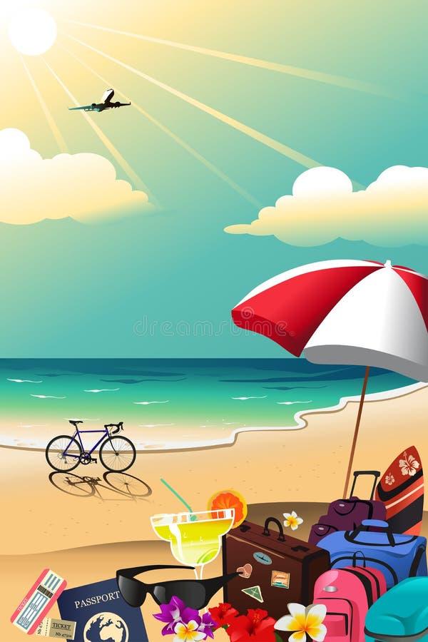 Cartaz do curso do verão ilustração royalty free