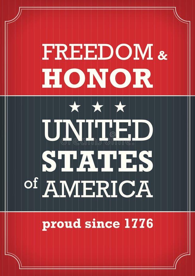 Cartaz do Dia da Independência ilustração royalty free