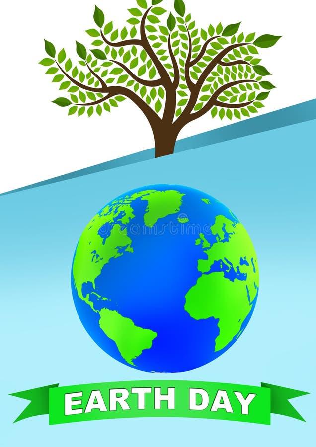 Cartaz do Dia da Terra imagens de stock royalty free