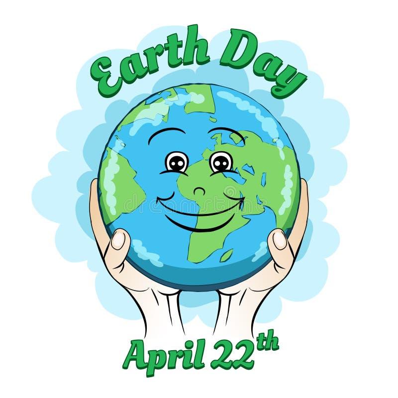 Cartaz do Dia da Terra ilustração do vetor