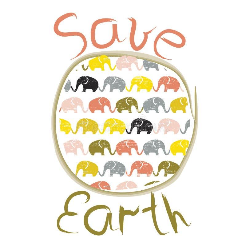 Cartaz do Dia da Terra ilustração stock