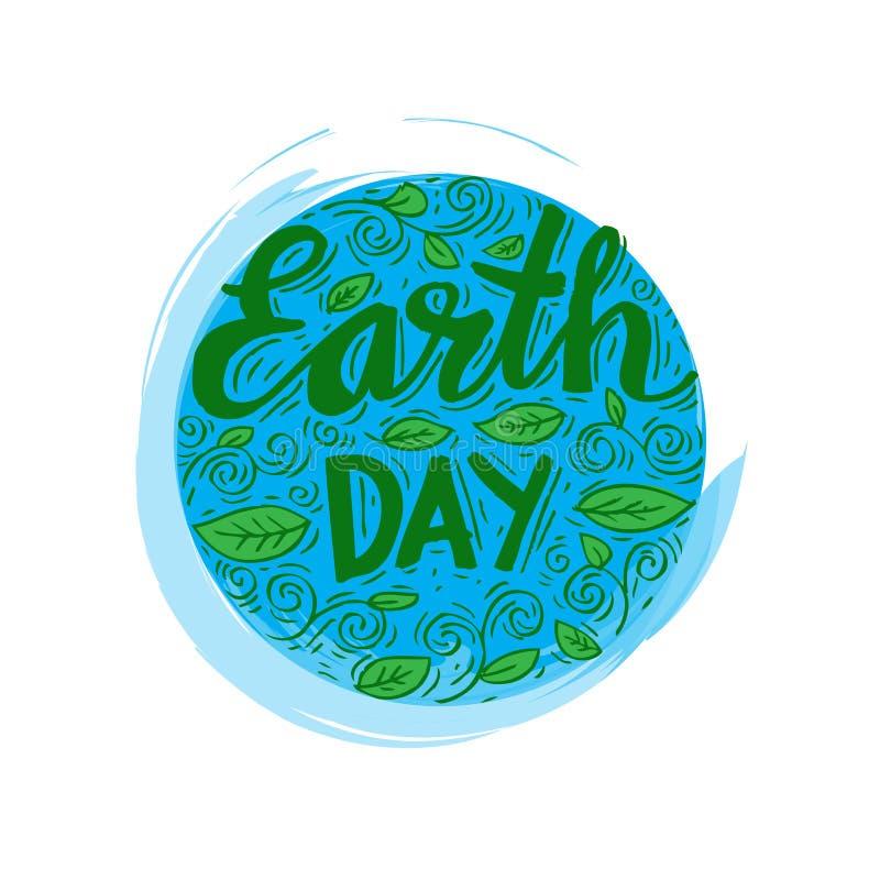 Cartaz do Dia da Terra ilustração royalty free