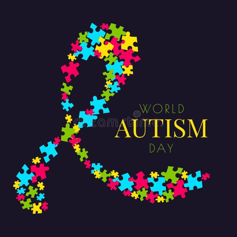 Cartaz do enigma do autismo ilustração stock